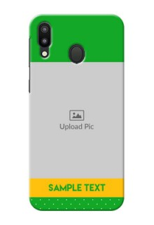 Samsung Galaxy M20 Personalised mobile covers: Green Pattern Design