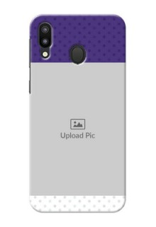 Samsung Galaxy M20 mobile phone cases: Violet Pattern Design