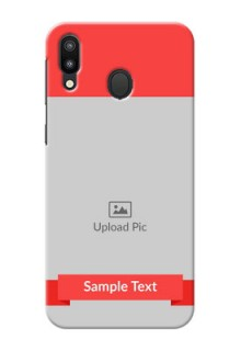 Samsung Galaxy M20 Personalised mobile covers: Simple Red Color Design