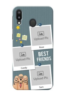 Samsung Galaxy M20 Mobile Cases: Sticky Frames and Friendship Design
