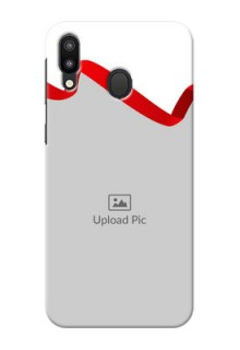 Samsung Galaxy M20 custom phone cases: Red Ribbon Frame Design