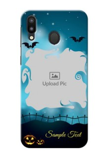 Samsung Galaxy M20 Personalised Phone Cases: Halloween frame design