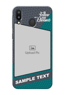 Samsung Galaxy M20 Back Covers: Background Pattern Design with Quote
