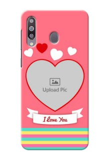 Galaxy M30Personalised mobile covers: Love Doodle Design