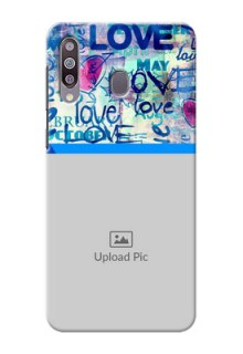 Galaxy M30Mobile Covers Online: Colorful Love Design