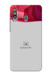 Galaxy M30custom mobile back covers: Red Abstract Design
