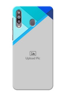 Galaxy M30Phone Cases Online: Blue Abstract Cover Design