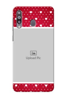Galaxy M30custom back covers: Hearts Mobile Case Design