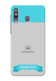 Galaxy M30Personalized Mobile Covers: Simple Blue Color Design