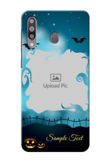 Galaxy M30Personalised Phone Cases: Halloween frame design