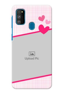 Galaxy M30s Personalised Phone Cases: Love Shape Heart Design