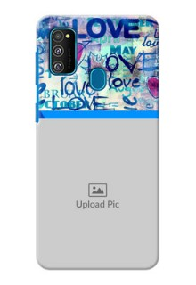Galaxy M30s Mobile Covers Online: Colorful Love Design
