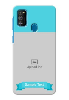 Galaxy M30s Personalized Mobile Covers: Simple Blue Color Design