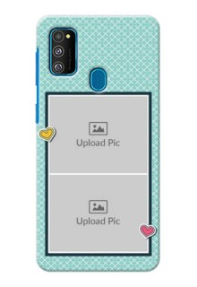 Galaxy M30s Custom Phone Cases: 2 Image Holder with Pattern Design