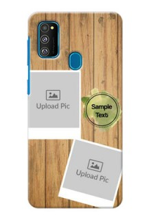 Galaxy M30s Custom Mobile Phone Covers: Wooden Texture Design