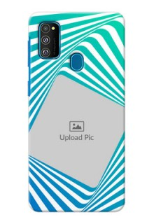 Galaxy M30s Personalised Mobile Covers: Abstract Spiral Design
