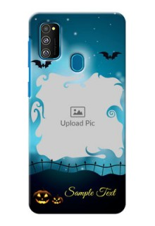 Galaxy M30s Personalised Phone Cases: Halloween frame design