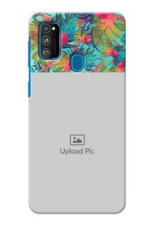 Galaxy M30s Personalized Phone Cases: Watercolor Floral Design
