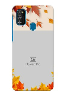 Galaxy M30s Mobile Phone Cases: Autumn Maple Leaves Design