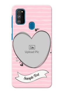 Galaxy M30s custom mobile phone covers: Vintage Heart Design