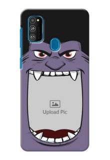 Galaxy M30s Personalised Phone Covers: Angry Monster Design