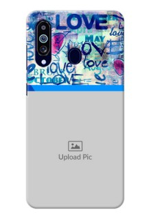 Galaxy M40 Mobile Covers Online: Colorful Love Design