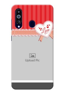 Galaxy M40 phone cases online: Red Love Pattern Design