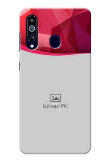 Galaxy M40 custom mobile back covers: Red Abstract Design