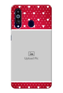 Galaxy M40 custom back covers: Hearts Mobile Case Design