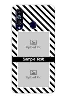 Galaxy M40 Back Covers: Black And White Stripes Design