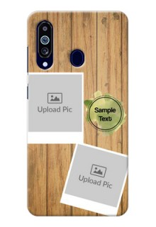 Galaxy M40 Custom Mobile Phone Covers: Wooden Texture Design