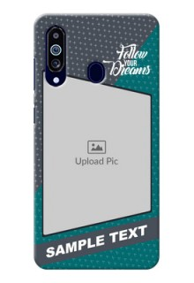 Galaxy M40 Back Covers: Background Pattern Design with Quote