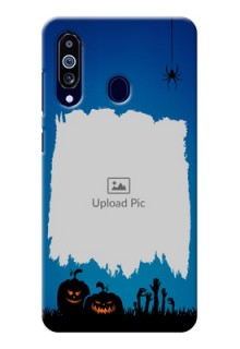 Galaxy M40 mobile cases online with pro Halloween design