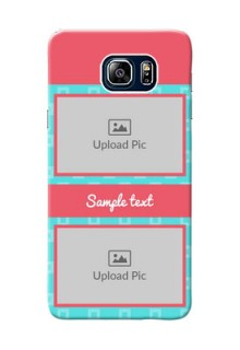 Samsung Galaxy Note5 Duos Pink And Blue Pattern Mobile Case Design