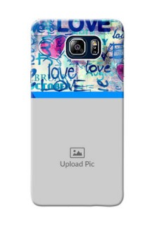 Samsung Galaxy Note5 Duos Colourful Love Patterns Mobile Case Design
