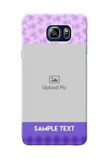 Samsung Galaxy Note5 Duos Floral Design Purple Pattern Mobile Cover Design
