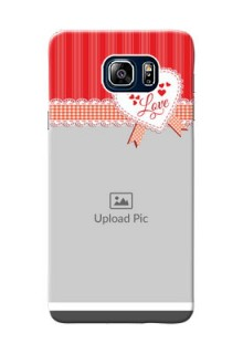 Samsung Galaxy Note5 Duos Red Pattern Mobile Cover Design