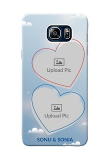 Samsung Galaxy Note5 Duos couple heart frames with sky backdrop Design