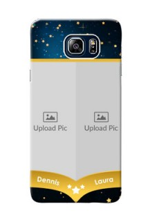 Samsung Galaxy Note5 Duos 2 image holder with galaxy backdrop and stars  Design