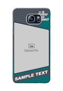 Samsung Galaxy Note5 Duos 2 colour background with different patterns and dreams quote Design Design