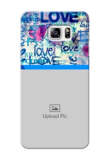 Samsung Galaxy Note5 Colourful Love Patterns Mobile Case Design