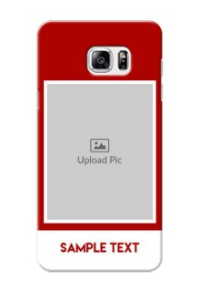 Samsung Galaxy Note5 Simple Red Colour Mobile Cover  Design