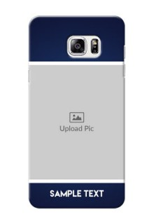Samsung Galaxy Note5 Simple Blue Colour Mobile Cover Design
