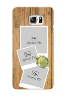 Samsung Galaxy Note5 3 image holder with wooden texture  Design