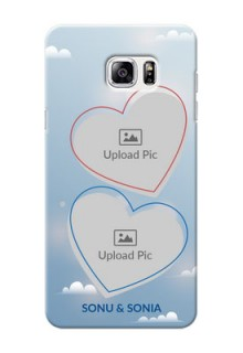 Samsung Galaxy Note5 couple heart frames with sky backdrop Design