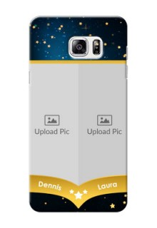 Samsung Galaxy Note5 2 image holder with galaxy backdrop and stars  Design