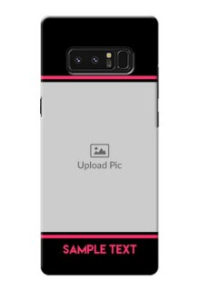 Samsung Galaxy Note8 Photo With Text Mobile Case Design