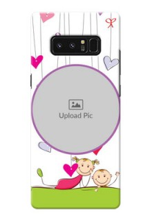 Samsung Galaxy Note8 Cute Babies Mobile Cover  Design