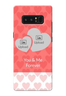 Samsung Galaxy Note8 Couples Picture Upload Mobile Cover Design