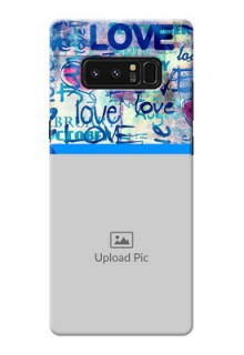 Samsung Galaxy Note8 Colourful Love Patterns Mobile Case Design